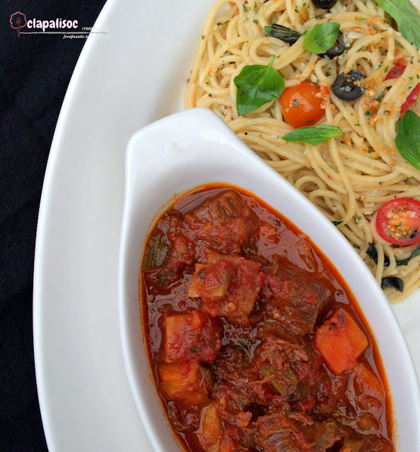 Beef Stew with Spaghetti Aglio Olio from Italianni's PH