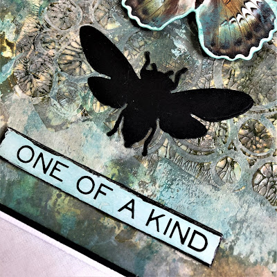 Sara Emily Barker https://sarascloset1.blogspot.com/2018/11/one-of-kind-mixed-media-card.html One of a Kind Mixed Media Card with Tim Holtz Stampers Anonymous, Sizzix Alterations, Ideaology and Distress 3