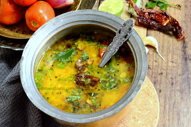 Homestyle Dal ~ Ghar ki Dal ~ Indian Style Lentil Curry ~ Toor Dal