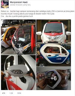 gambar Matic Roda tiga 250 cc harga 18 jutaan di kediri jadi Viral