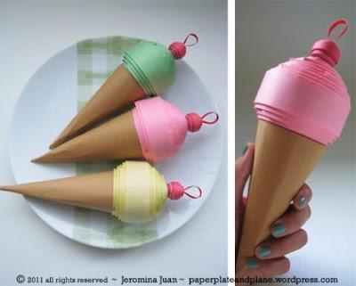 come realizzare gelato in quilling con sorpresa