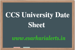 CCS University Date Sheet 2018