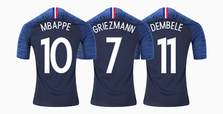 wholesale dealer 5f490 7ba8b Mbappé #10: France Confirm World Cup Squad Numbers - Footy ...
