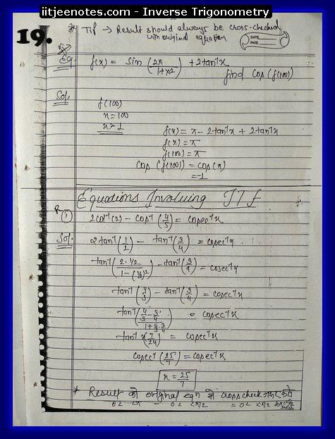 inverse trigonometry notes7