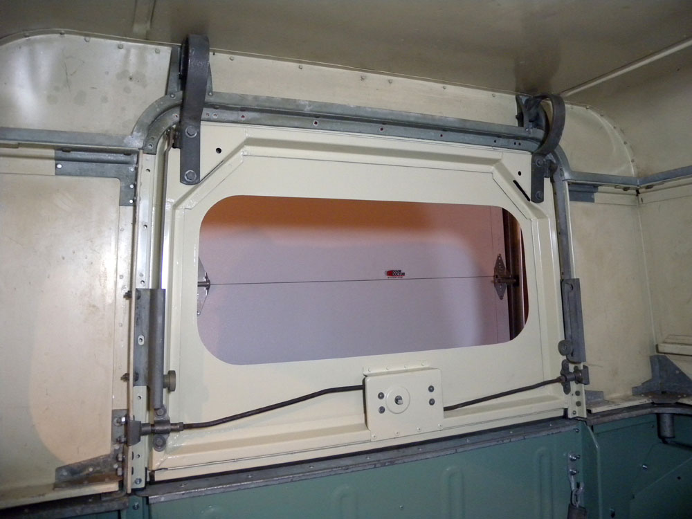 1960 Land Rover Restoration Lift Gate Installed Headliner