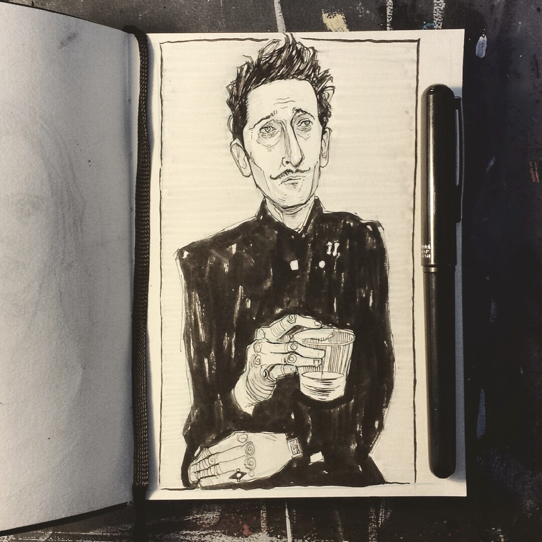 Wes Anderson sketchbook drawing