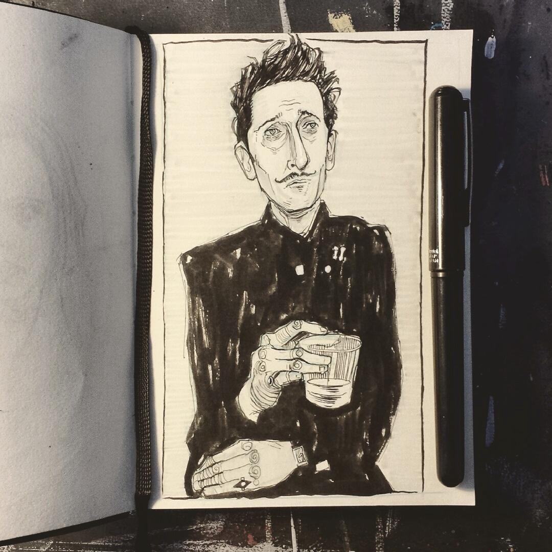 Wes Anderson sketchbook drawing