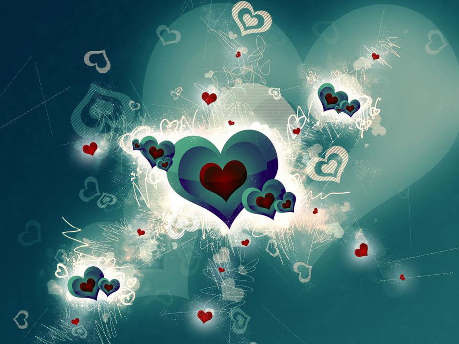 wallpapers: 3D Heart Wallpapers Wallpapers