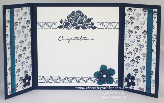 Stampin Up, #thecraftythinker, Floral Phrases, Gatefold Card, Botanical Builder, Stampin Up Australia Demonstrator