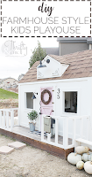 DIY playhouse tutorial. DIY outdoor playhouse. How to build an outdoor playhouse Learn how to build a farmhouse style playhouse for your kids!