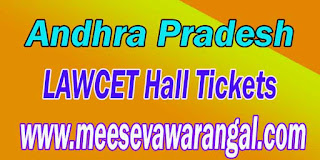 APLAWCET 2017 APPGLCET 2017 Hall Tickets  Results Download
