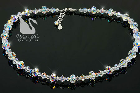 Swarovski Crystal Ice Endless Shimmer Beaded Necklace (N103)