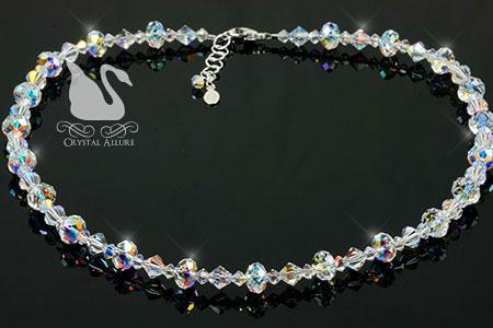 Swarovski Crystal Ice Endless Shimmer Beaded Necklace (N103)