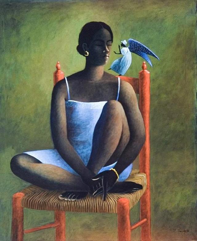 Негритянки и природа. Francois Cauvin