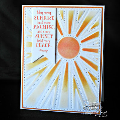 Our Daily Bread Designs Stamp sets: Sunshine Blessings, ODBD Custom Dies: Sunburst Background, Pennant