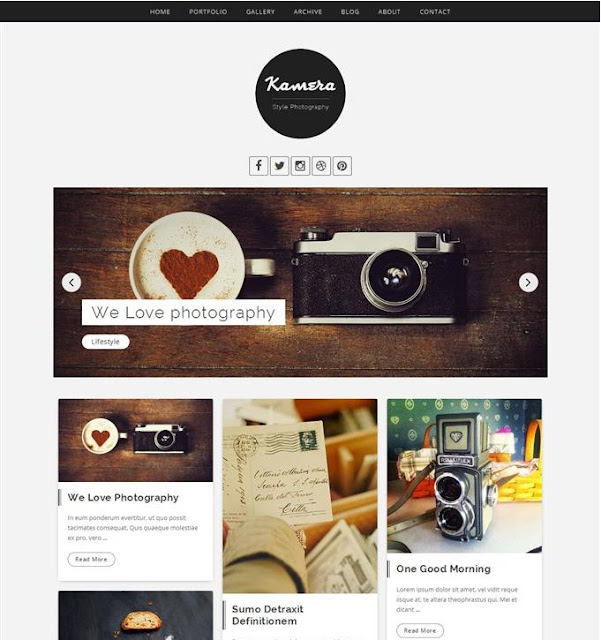 Kamera Photograpghy Blogger Template