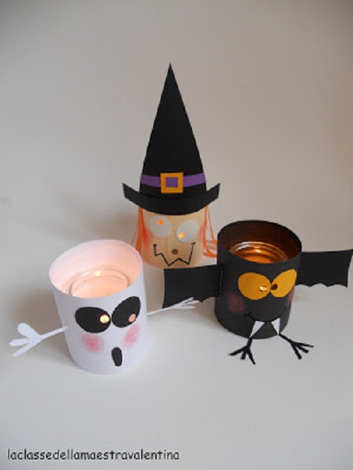 16 easy Halloween craft ideas for kids. Lanternine Halloween night craft for kids. Simple Halloween luminary's decoration ideas. Craft ideas for 4-5 years old kids. Preschool kids craft ideas for Halloween. DIY Halloween paper craft ghost ideas. Simple scary Halloween décor ideas. Halloween night party decoration. Halloween spooky decoration lights for outdoor.