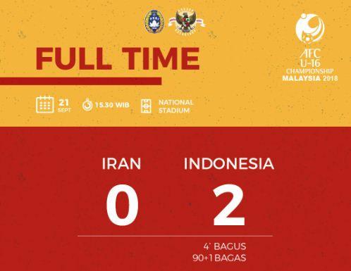 Video Gol Bagus & Bagas Indonesia U-16 vs Iran 2-0