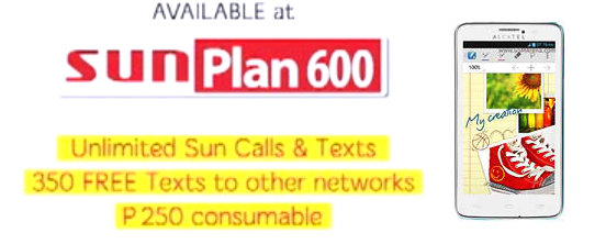 Alcatel One Touch Scribe Easy offered on postpaid at Sun Cellular Plan 600