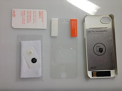 USBメモリー付iPhone5ケース内容物