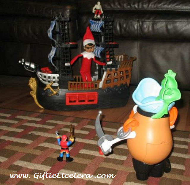 Elf on the Shelf Ideas, Mr. potato Head