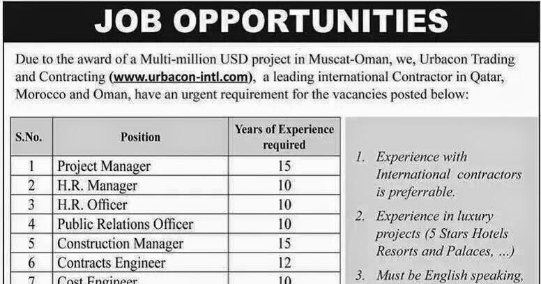 Muscat-Oman Job Vacancies « Job Hunterfb