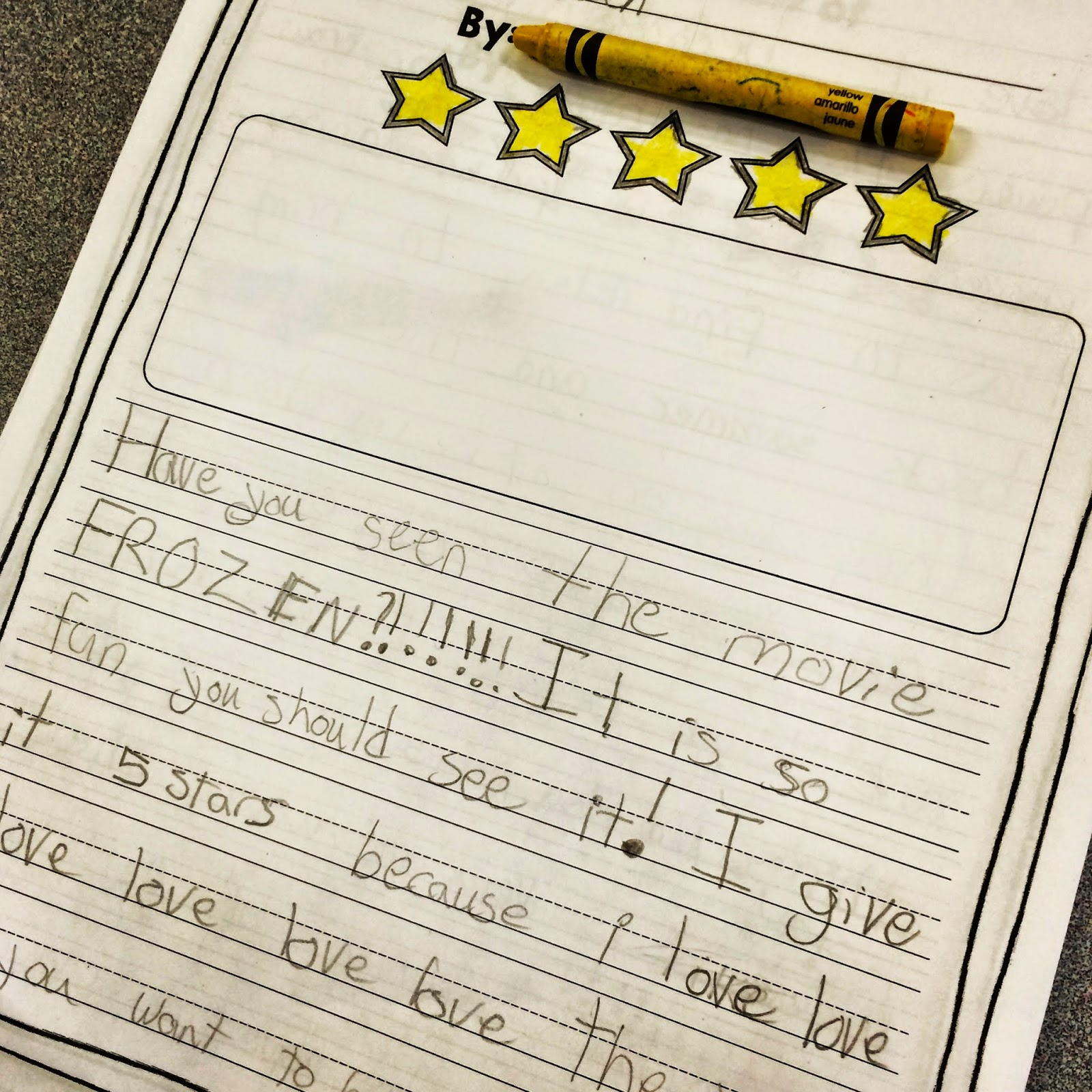 Opinion Writing Template 3rd Grade