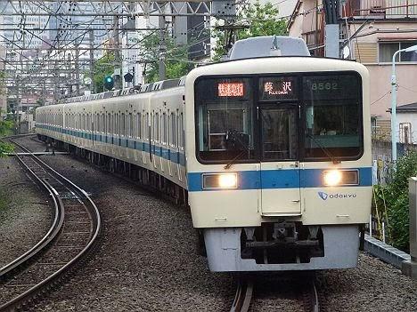 【ダイヤ改正で消滅!】RAPID EXP.表示の快速急行 藤沢行き8000形