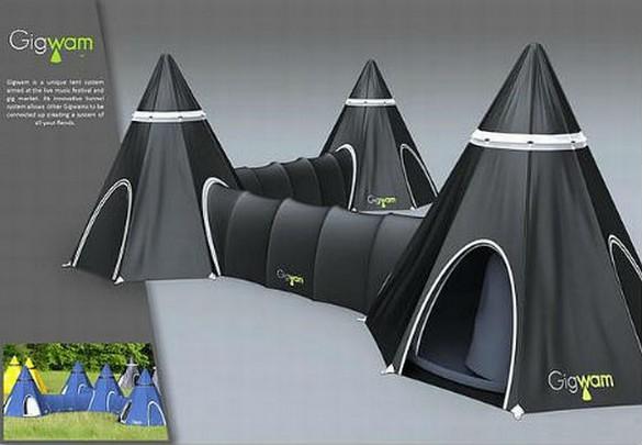 Carpas para un camping alocado