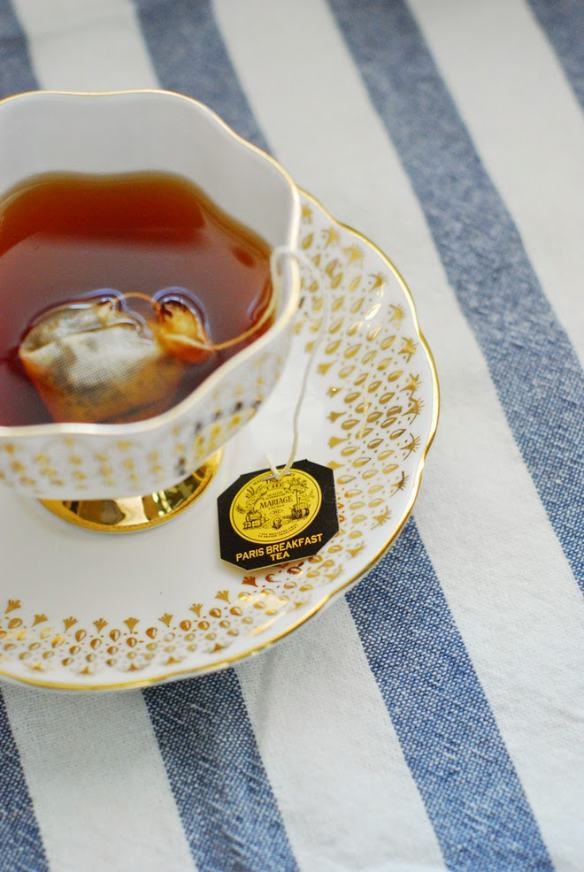 Vintage Queen Anne Bone China gold teacup