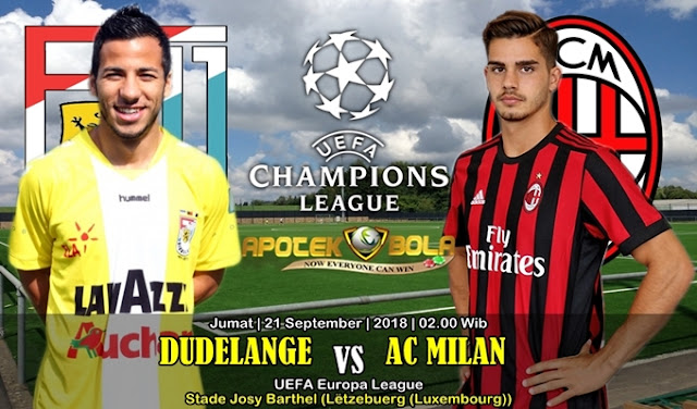 Prediksi Dudelange VS AC Milan 21 September 2018