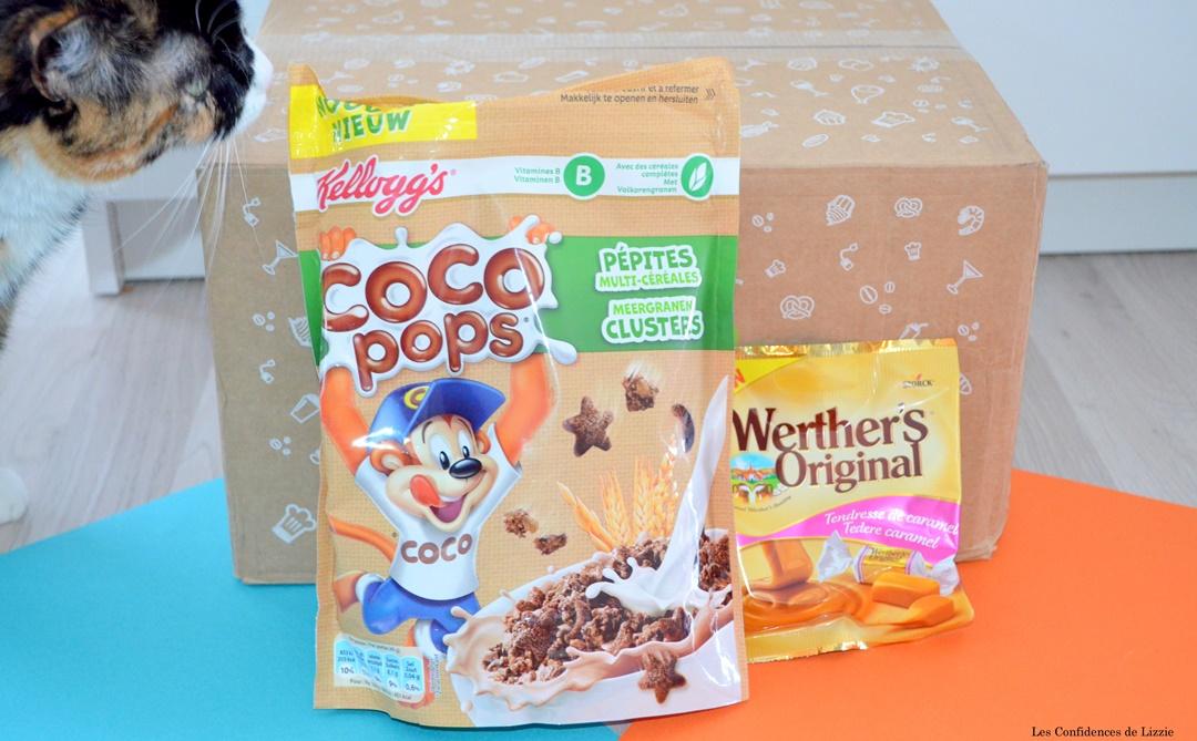 coco pops - caramel - caramel mou - werthers original - kelloggs