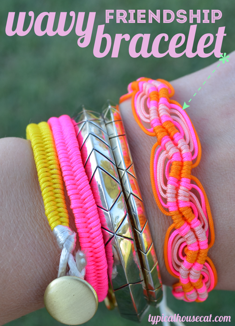 DIY Wavy Friendship Bracelet - The Idea King