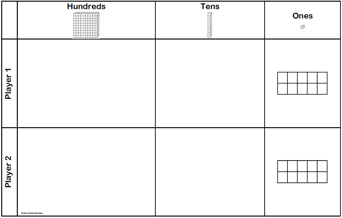Ones Tens Hundreds Blocks Worksheet   Printable Worksheets and Activities  for Teachers [ 905 x 1421 Pixel ]