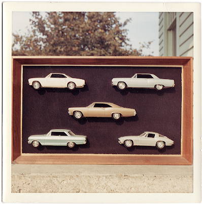 a collection of model cars - vintage photo on the cedar chest blog