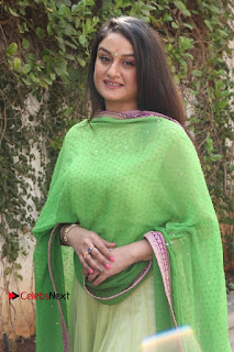 Actress Sonia Agarwal Stills in Green Anarkali Dress at Agalya Tamil Movie Launch  0007.jpg