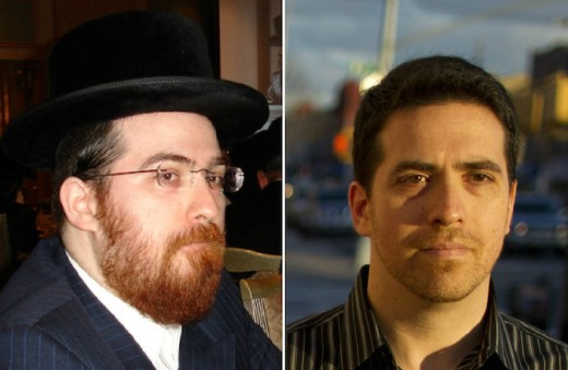 Shulem Deen as a Hasid, and now as a modern, secular Jew