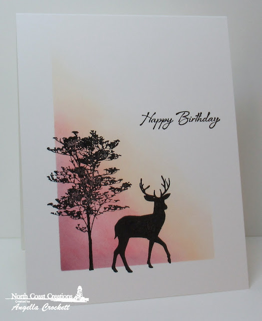 North Coast Creations Deer Silhouette Greetings, ODBD Custom Rectangles Dies, Card Designer Angie Crockett