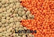 Lentilles aliment pour stimuler l'énergie