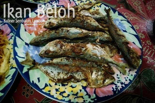 kuliner sembalun, ikan beloh, ikan goreng