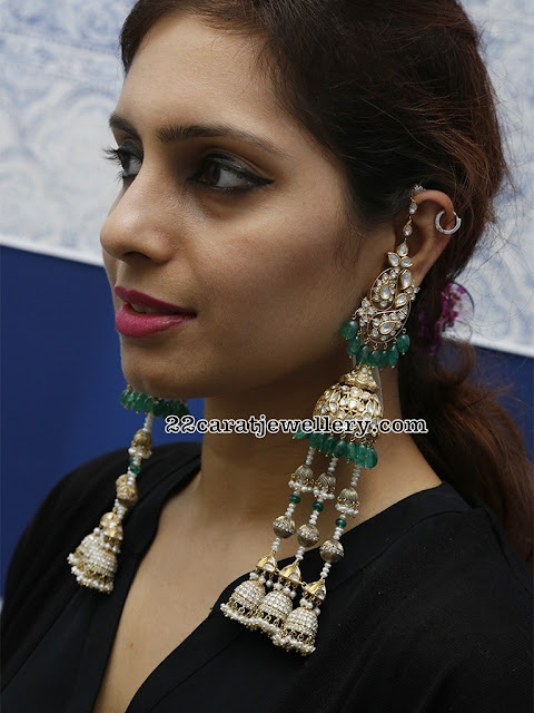 Tremendous Polki Jhumka Earrings