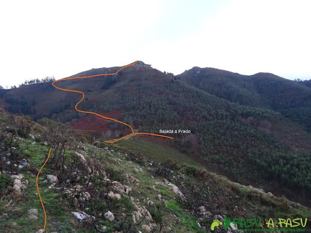 Ruta al Pico Gobia y La Forquita: Camino al Collado la Forquita y Prado