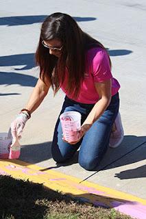Patrick Paints Martinsville Speedway Pink #nascar