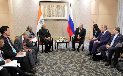 Vladimir Putin had a meeting with Indian Prime Minister Narendra Modi.