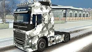 Army Winter skin for Volvo 2012