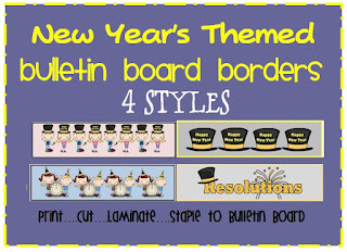 new year's themed bulletin board borders