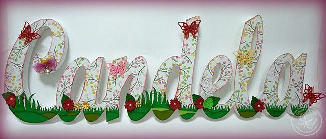 Letras decoradas para Naia  Manualidades