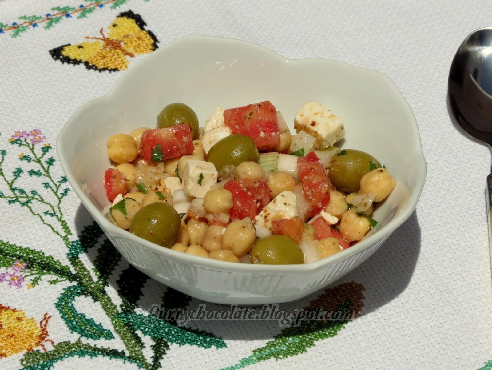 Nohut Salatasi - Ensalada turca de garbanzos - Turkish chickpea salad