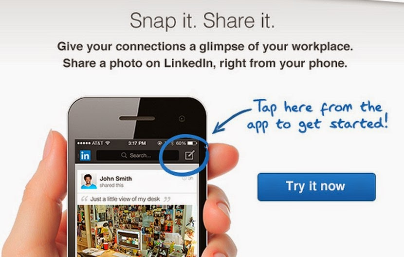 LinkedIn, LinkedIn sharing professional photos, LinkedIn sharing photos, LinkedIn photos on mobile, social media,