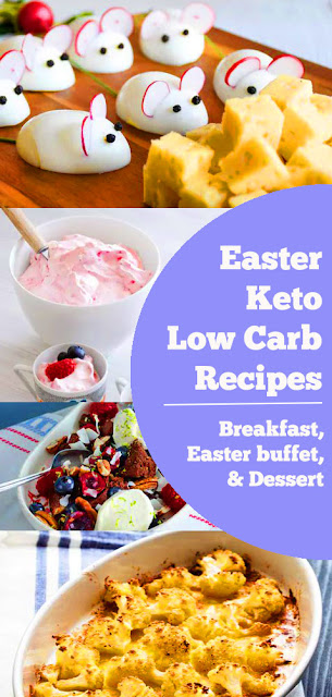 Keto Low Carb Easter Recipes - Breakfast, Easter Buffer, & Dessert | And this year the Easter bunny's bringing… real food! Whatever you prefer to serve on Easter Sunday, we've got you covered with low-carb options. In the mood for glazed ham, roasted lamb or flaky salmon baked to perfection with lemon and butter? How about some lovely greens on the side? You'll find them all in here. #keto #lowcarb #easter #easterrecipe #easterdessert #easterbreakfast